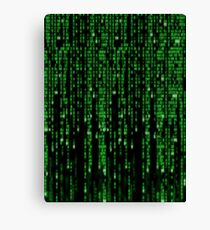 Matrix code style design Canvas Print