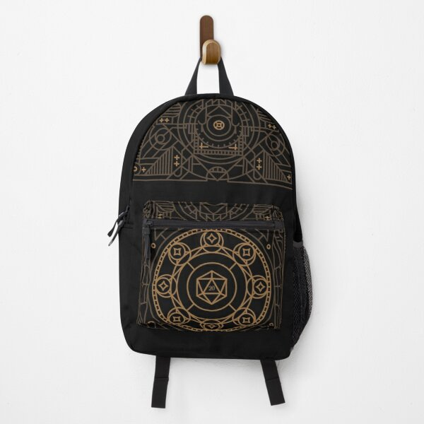 Ancient Mystical Polyhedral D20 Dice Tabletop RPG Backpack