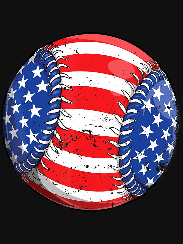 Baseball American Flag 4Th Of July  Kids Boys S by WalkerSipes