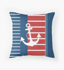 Trendy Nautical Stripe Design Throw Pillow