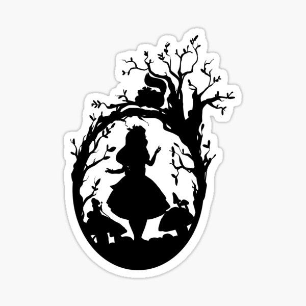 Silhouette - Alice au pays des merveilles Sticker