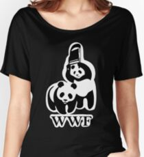 WWF panda parody Women's Relaxed Fit T-Shirt