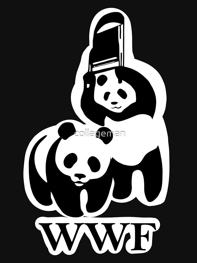 TShirtGifter presents: WWF panda parody | Unisex T-Shirt