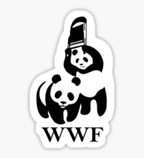 WWF panda parody Sticker
