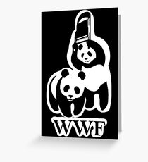 WWF panda parody Greeting Card