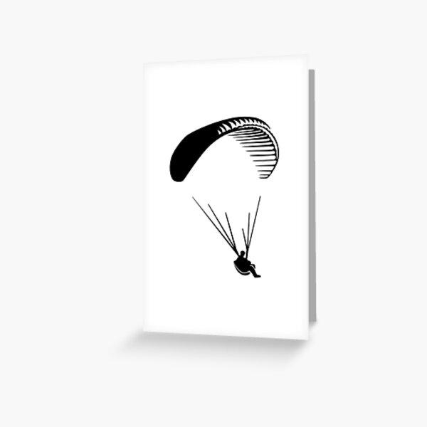 parapente Carte de vœux