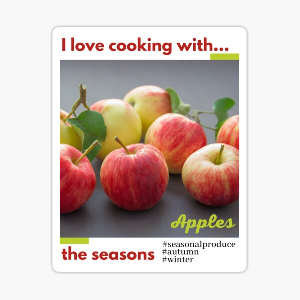 Cooking with the seasons - Apples Sticker