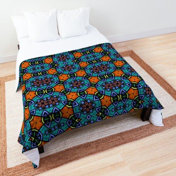 Stained Glass Kaleidoscope Design Comforter