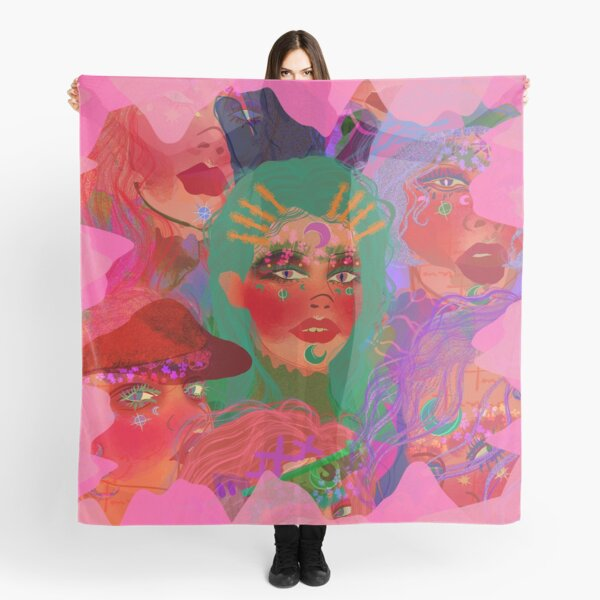 In the Psyche Muses (With Border) Scarf