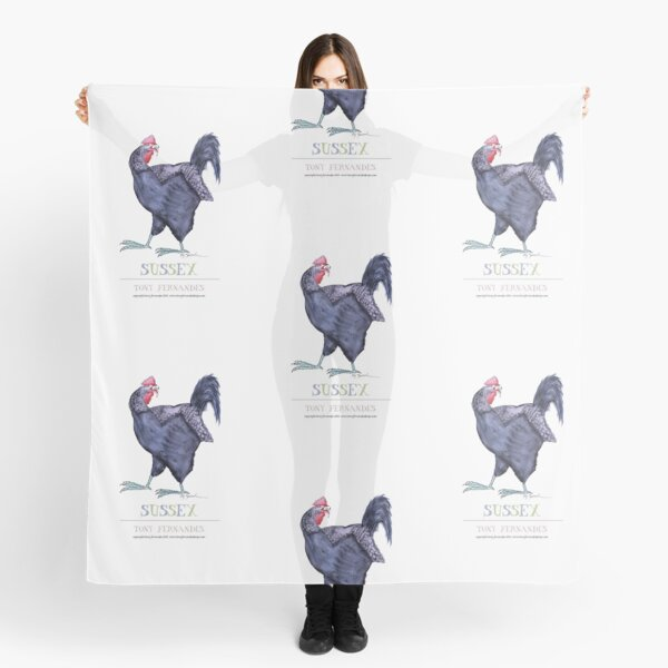 White Chicken Scarf Hen Chicken Print Scarves Spring Farm Animal Bird Chic Gifts