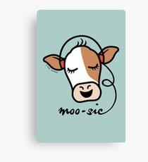 Moo-sic Cow Canvas Print