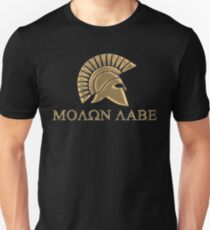 Molon labe-Spartan Warrior T-Shirt