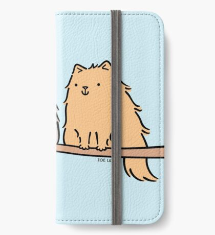 Fluffy Cat Couple  iPhone Wallet