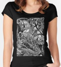 St George and the Dragon Women's Fitted Scoop T-Shirt