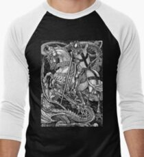 St George and the Dragon Men's Baseball ¾ T-Shirt