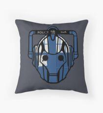 cyberman tardis Throw Pillow