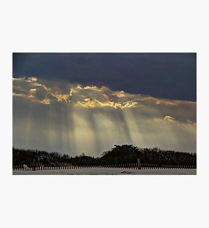 When Light Split The Sky Photographic Print