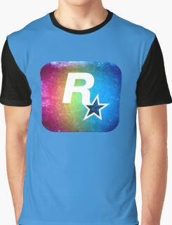 °GEEK° Rockstar Rainbow Graphic T-Shirt
