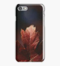 First leaf of the season. iPhone Case/Skin