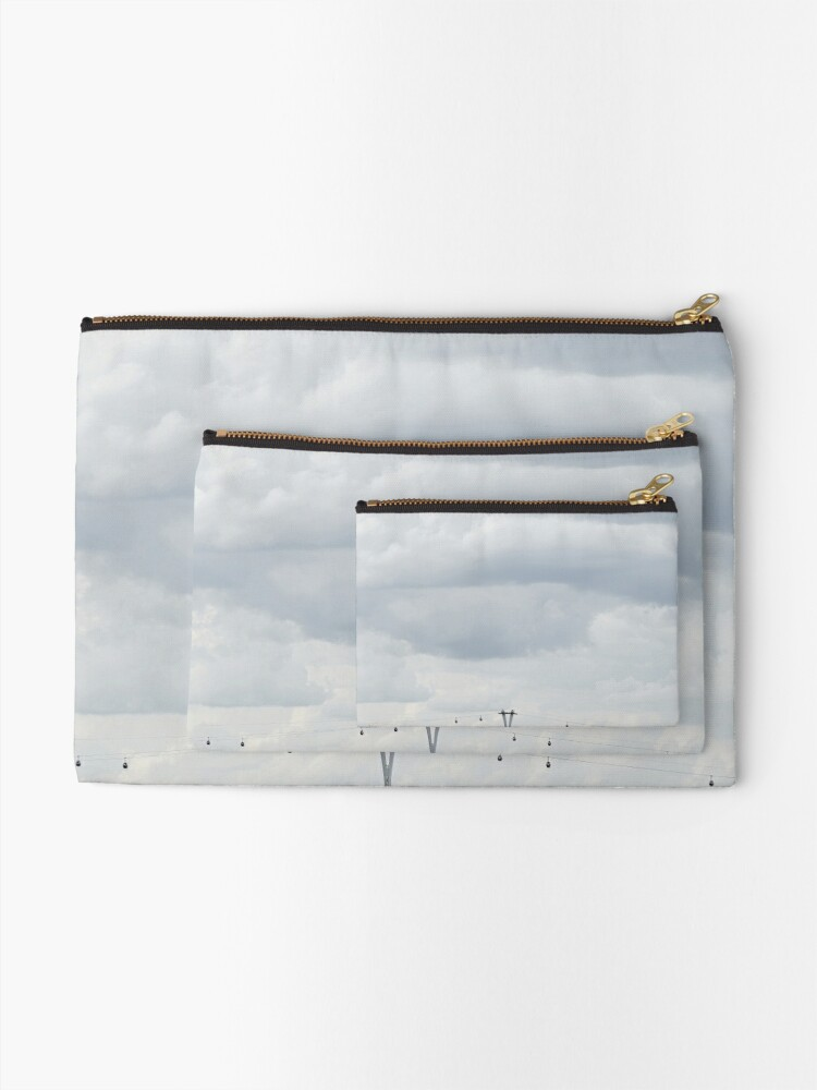 Alternate view of Wired sky Zipper Pouch