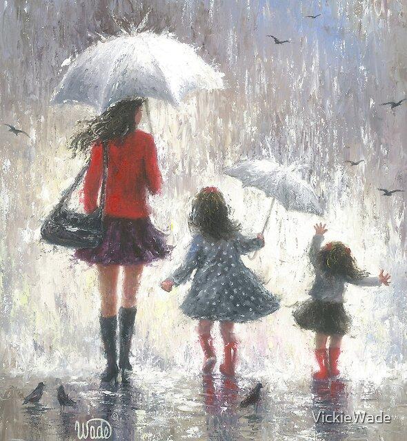 RAINY DAY WALK WITH MOM by VickieWade