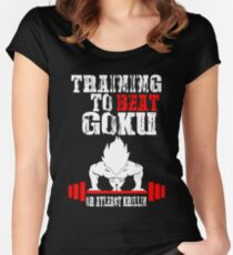 Training To Beat Goku Funny Gag Shirt Fro Men And Women Women's Fitted Scoop T-Shirt