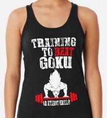 Training To Beat Goku Funny Gag Shirt Fro Men And Women Women's Tank Top
