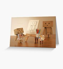 Danbo found being painted in the nude, to be a very liberating experience Greeting Card
