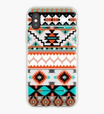 Native american seamless tribal pattern with geometric elements iPhone Case