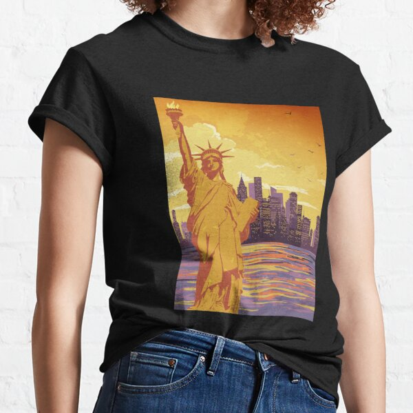 Addicted To New York City - I survived my trip to nyc Tiger No.6 Classic T-Shirt