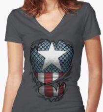 Captain Shirt Women's Fitted V-Neck T-Shirt