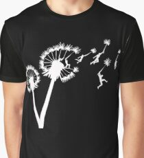 Dandylion Flight - white silhouette Graphic T-Shirt