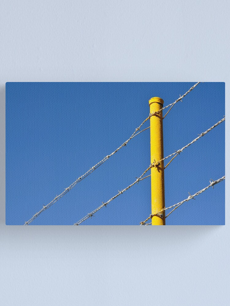 Alternate view of Yellow on Blue Canvas Print