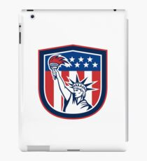 Statue of Liberty Holding Flaming Torch Shield iPad Case/Skin