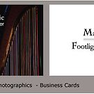 Commision - Business Card for Mark Howard is Footlight Photographics by Tracey Hansell