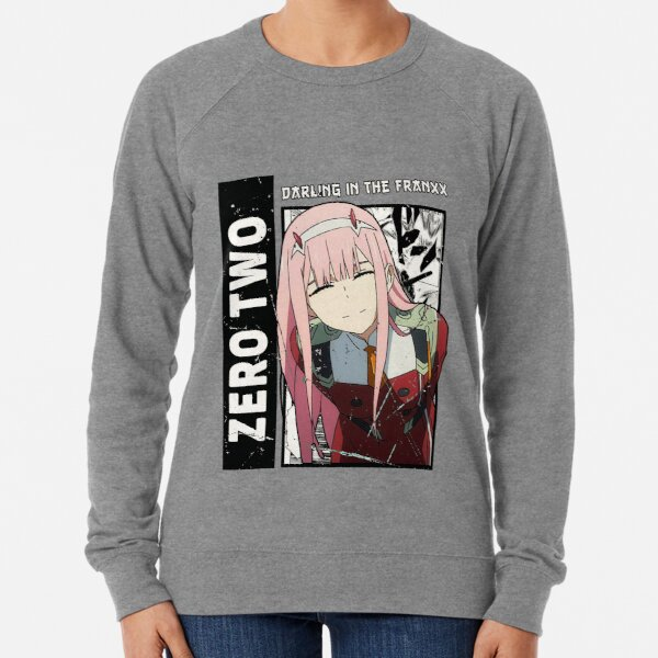 Cero dos, Darling in the Franxx, anime wifu, Sudadera ligera