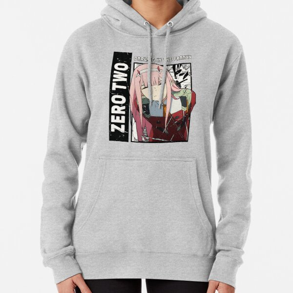 Zero two, Darling in the Franxx, anime wifu, Pullover Hoodie