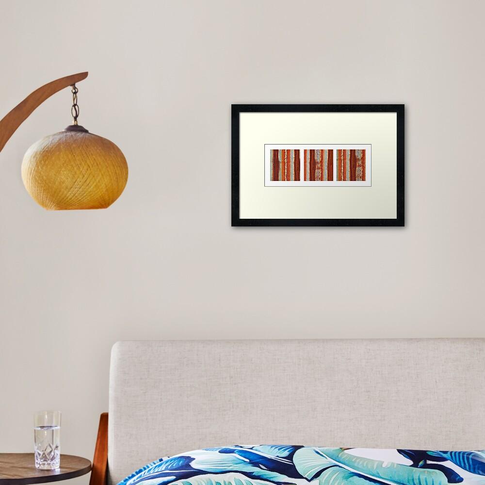 Rivers of Rust Framed Art Print