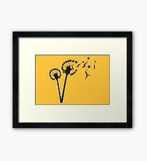 Dandylion Flight Framed Print