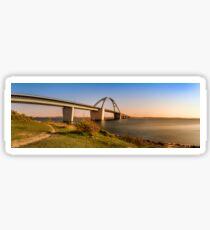 Fehmarnsund Bridge - Panorama  Sticker