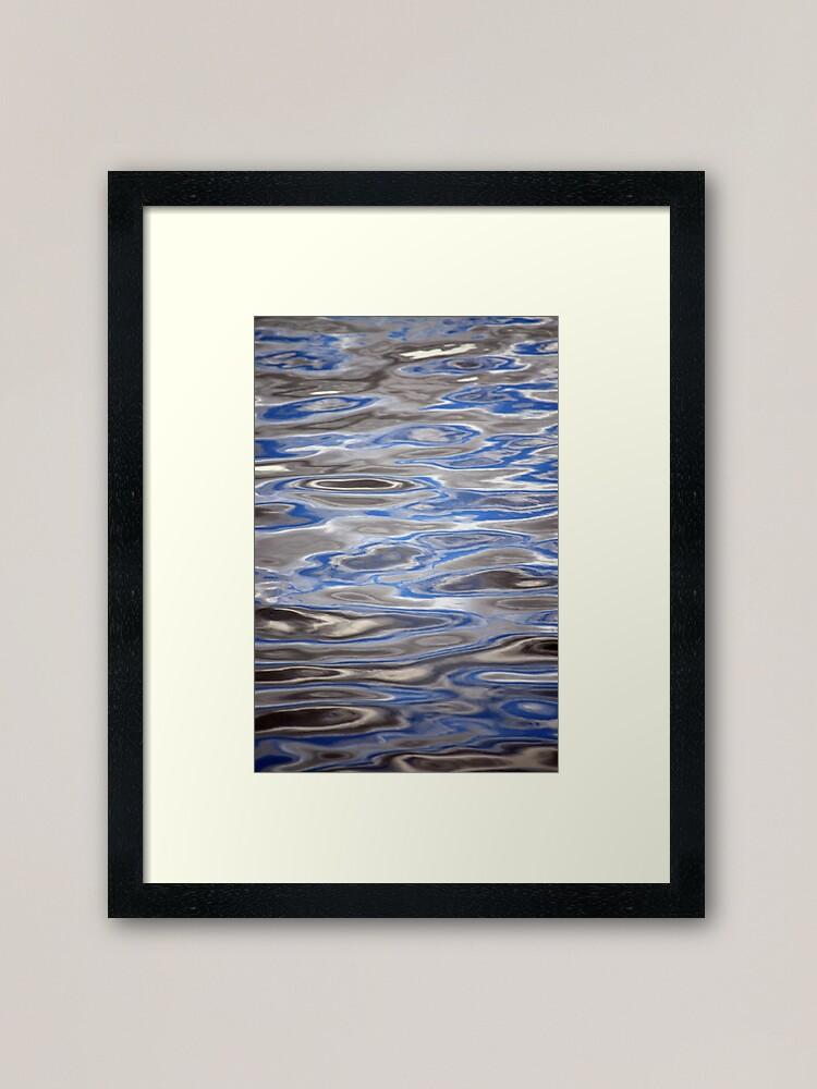 Alternate view of Watery Abstract Framed Art Print