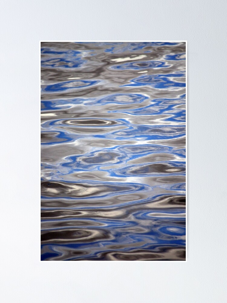 Alternate view of Watery Abstract Poster