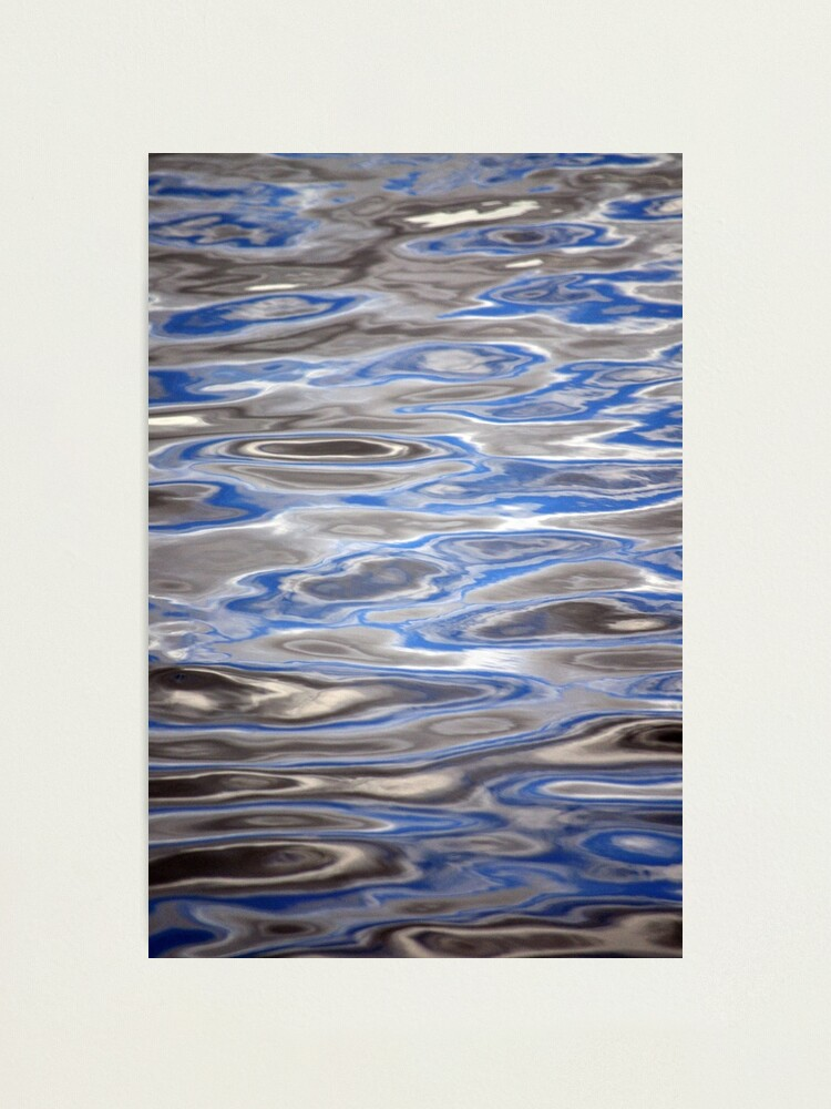 Alternate view of Watery Abstract Photographic Print