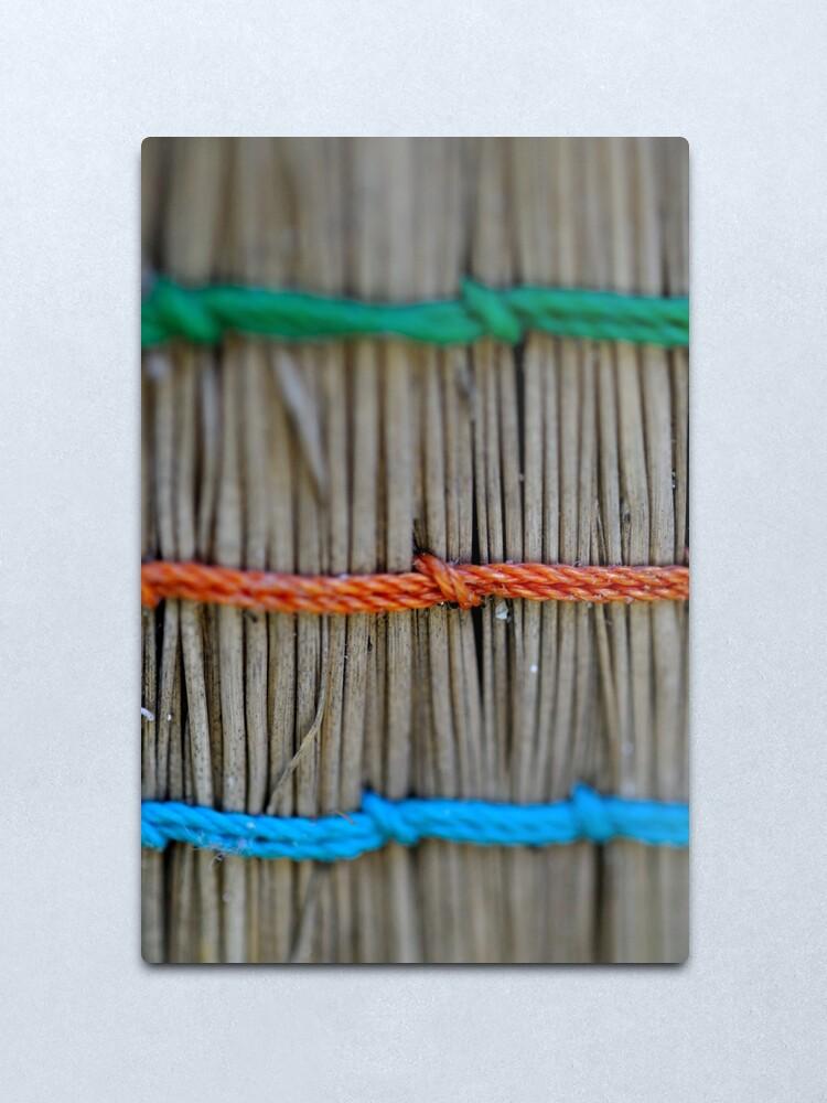 Alternate view of Tied Up Metal Print