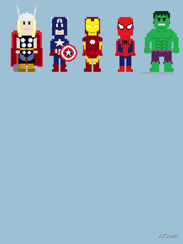 8-Bit Super Heroes! by AlCreed