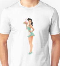 Retro Pinup Waitress Girl T-Shirt