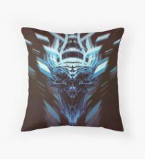 DK Skull blue pillow Throw Pillow