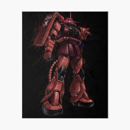 "Zaku 2 ""Char Aznable"" Custom Art Board Print"