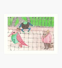 Bird, Frog, Mouse Art Print