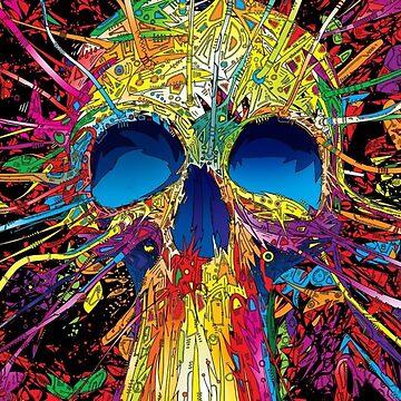 Rainbow skull by Letsmakemoney